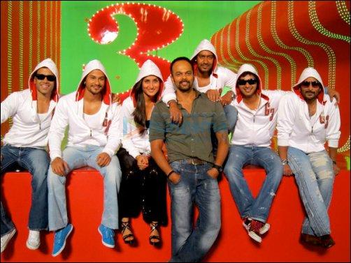 Tusshar Kapoor, Kunal Khemu, Kareena Kapoor, Rohit Shetty, Ajay Devgn, Shreyas Talpade, Arshad Warsi