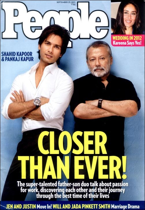 Shahid Kapoor, Pankaj Kapoor