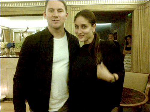 Check out kareena kapoor and channing tatum meet in london readers may be aware by now that kareena kapoor khan seems to be having a rather fun filled vacation in london the actress was recently spotted with saif m4hsunfo