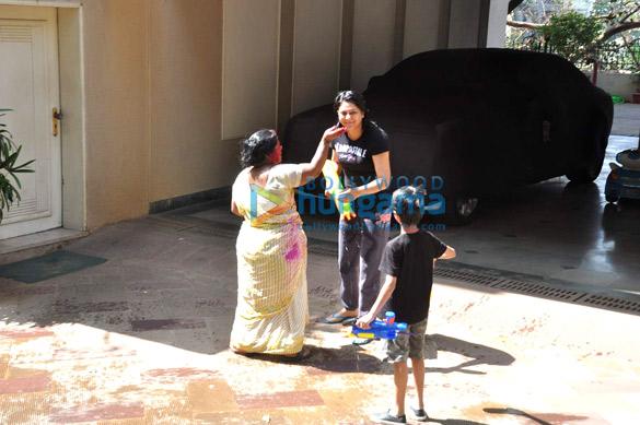Priya Dutt snapped celebrating Holi