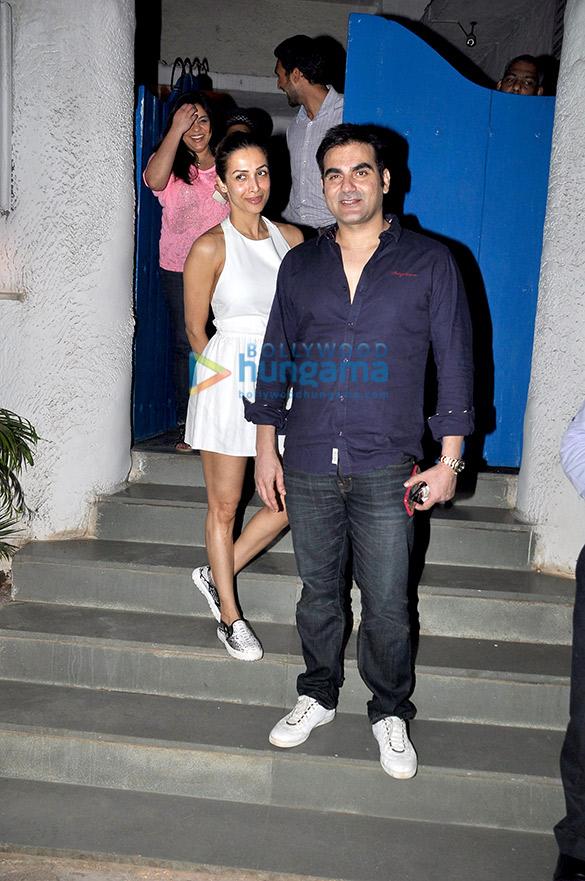 Malaika Arora Khan & Arbaaz Khan snapped at Olive