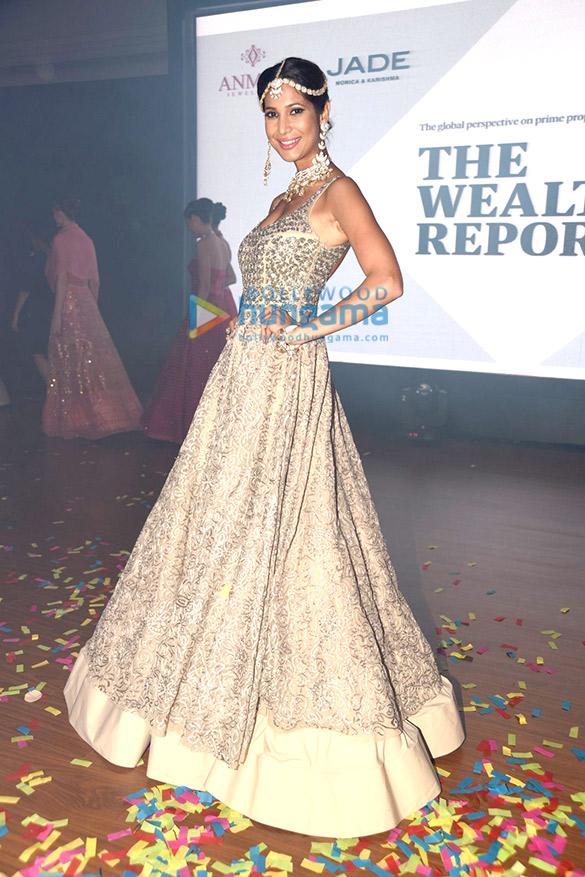 Prachi Mishra & Divya Khosla Kumar at 'Knight Frank The Wealth Report' launch with 'Jade' fashion show