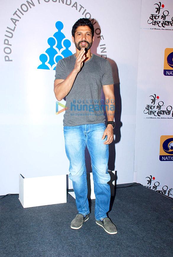Farhan Akhtar at the launch of tele series 'Main Kuch Bhi Kar Sakti Hoon'