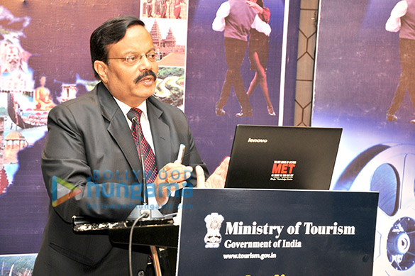 Dignitaries at the 'Indian Cinematic Tourism' event