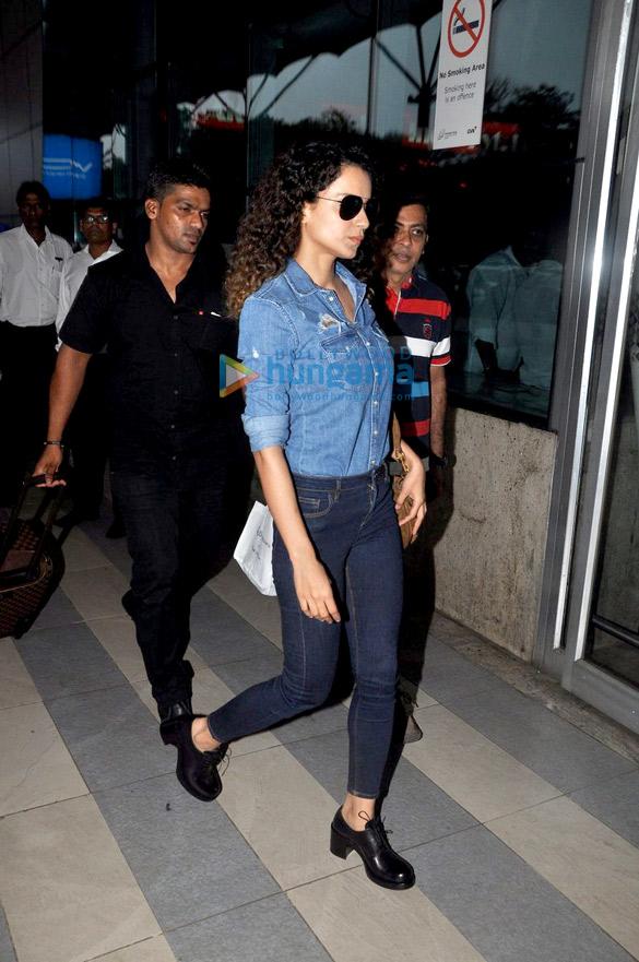 Kangna Ranaut clicked at the airport