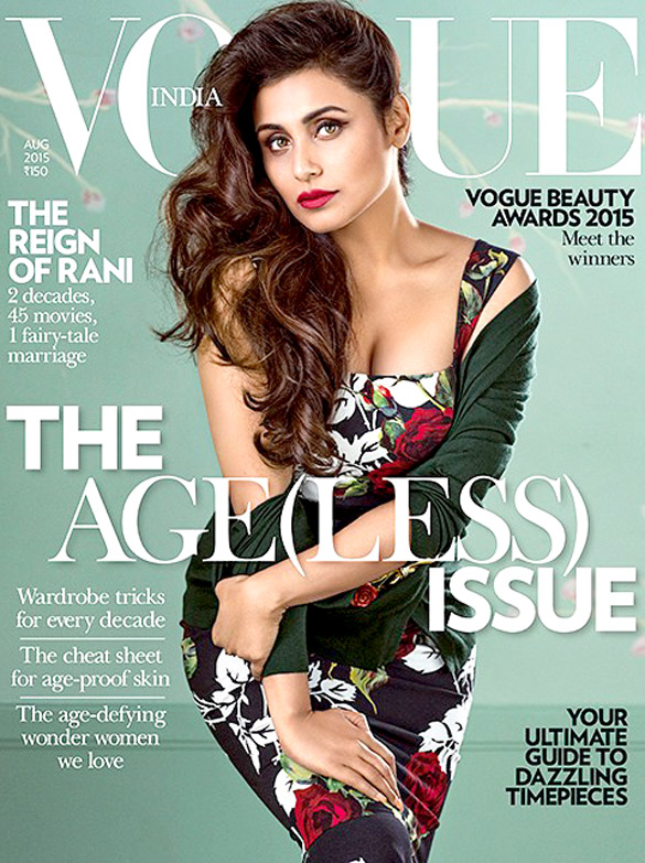 Rani Mukerji On The Cover Of Society,Jul 2015