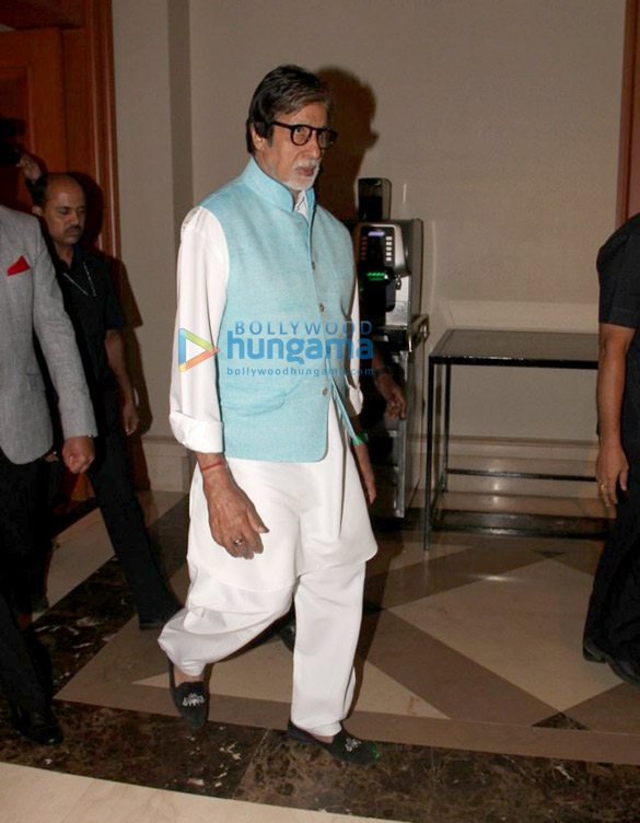 Amitabh Bachchan snapped at JW Marriott