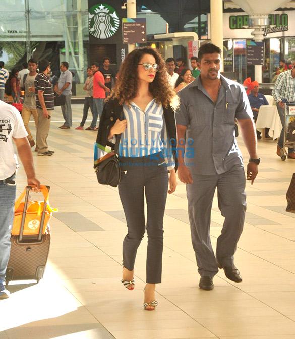 Kangna Ranaut snapped at the Mumbai domestic airport