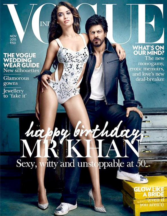 Shah Rukh Khan, On The Cover Of Vogue,Nov 2015