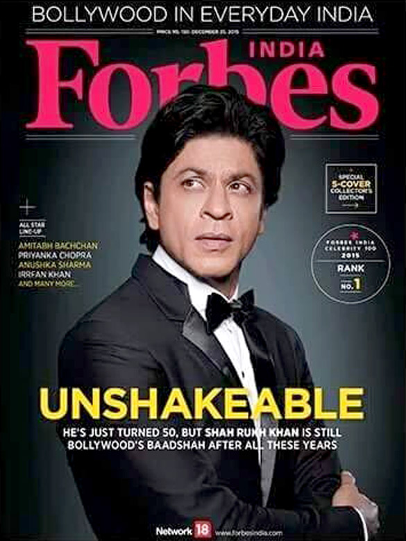 Shah Rukh Khan  On The Cover Of Forbes Magazine,Dec 2015
