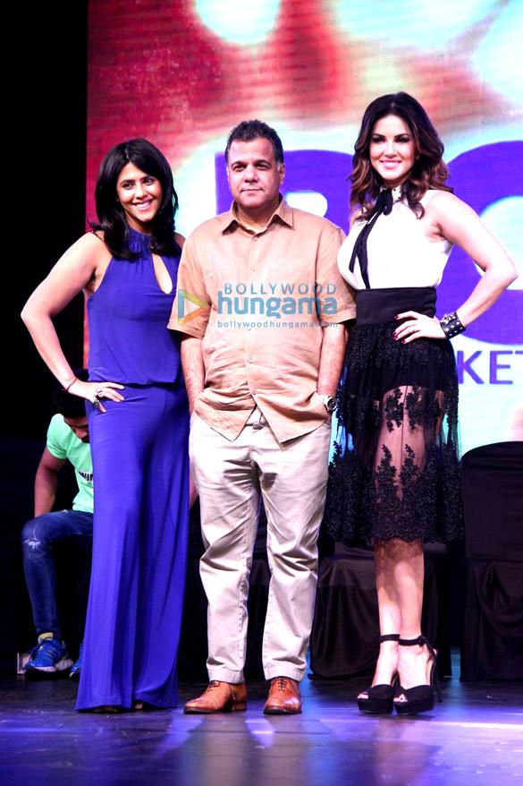 Ekta Kapoor, Raj Nayak, Sunny Leone