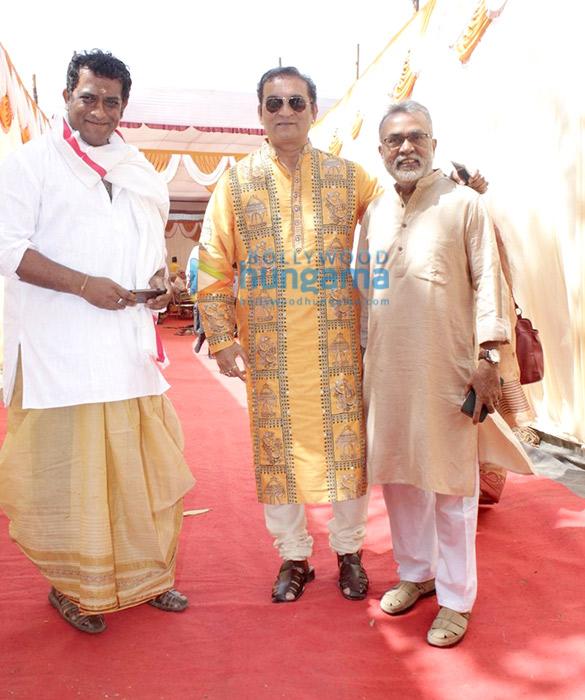 Anurag Basu and others at Saraswati Puja & Bhog