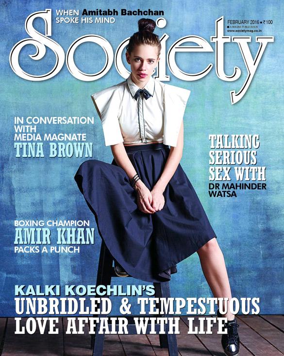 Kalki Koechlin On The Cover Of Society,Feb 2016