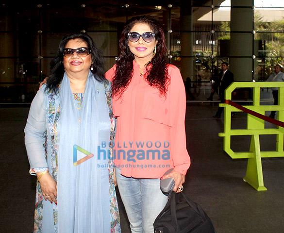 Runa Laila & Tinaa Ghaai spotted at the Mumbai airport