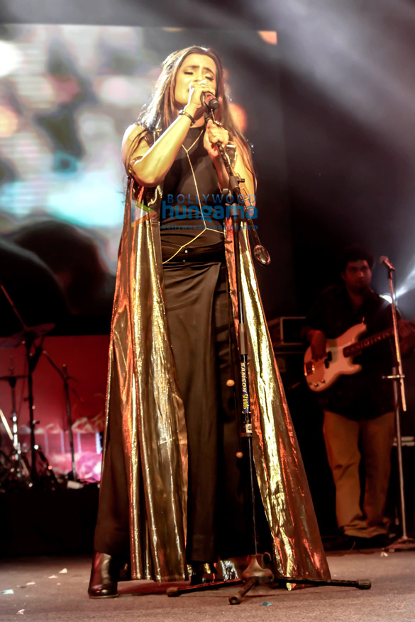 Sona Mohapatra performs live at the H.A Grounds in Pune