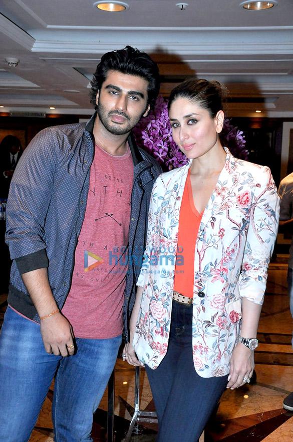 Arjun Kapoor & Kareena Kapoor Khan snapped promoting their film 'Ki & Ka'