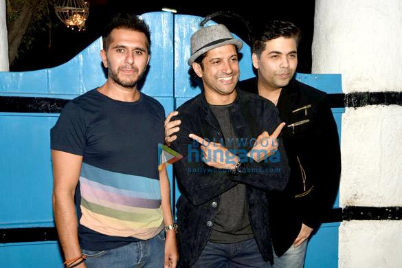 Ritesh Sidhwani, Farhan Akhtar, Karan Johar