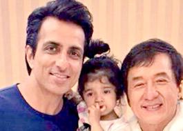 Sonu Sood's niece meets Jackie Chan