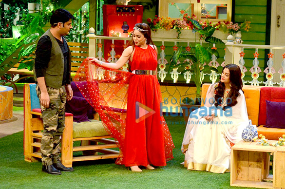 Promotions of 'Sarbjit' on the sets of Kapil Sharma's Show