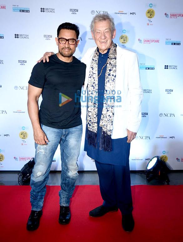 Aamir Khan's conversation with Sir Ian McKellen