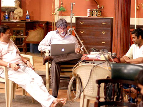 On The Sets Of The Film Bhoothnath (2008) Featuring Amitabh Bachchan