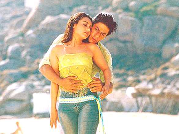 Movie Still From The Film Chalte Chalte,Rani Mukerji,Shahrukh Khan