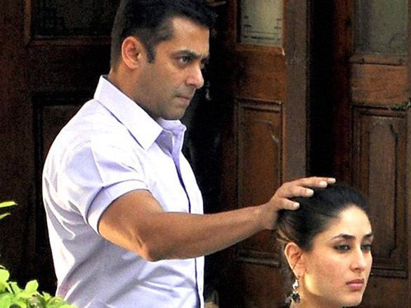 On The Sets Of The Film Bodyguard Featuring Salman Khan,Kareena Kapoor