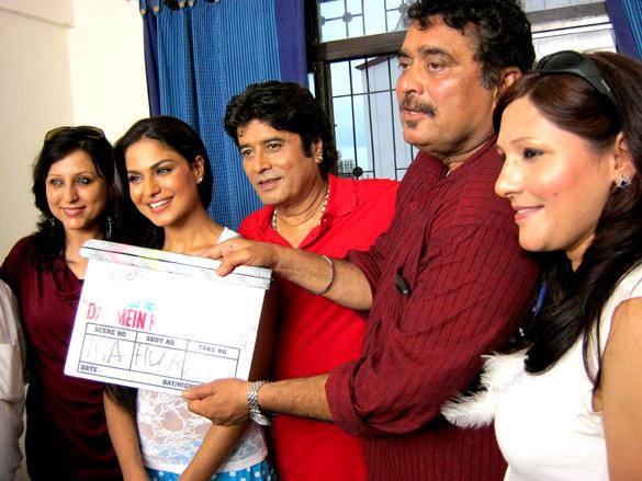 On The Sets Of The Film Daal Mein Kuch Kaala Hai!,Veena Malik,Anand Balraj