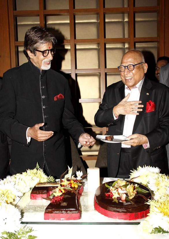Big B celebrates his 70th birthday with Capt. Nair