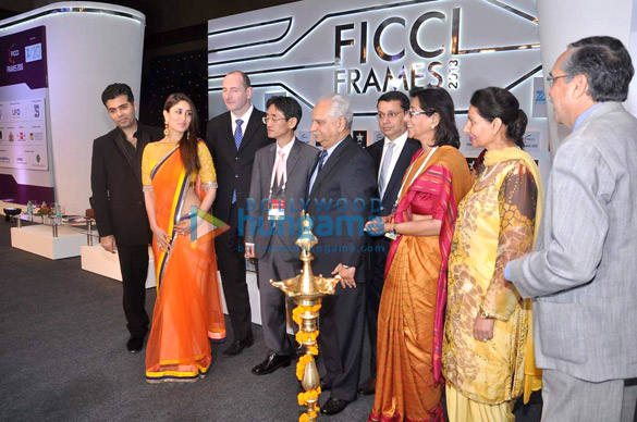 Kareena at the inauguration of FICCI Frames 2013