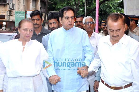Dilip Kumar & Amitabh Bachchan at Pran's prayer meet