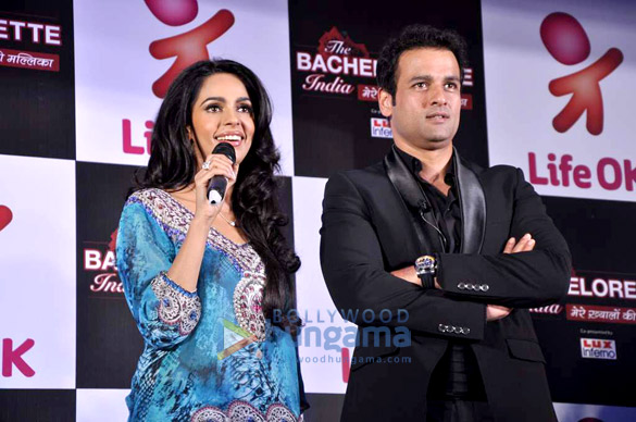 Mallika at the launch of Life OK's The Bachelorette India