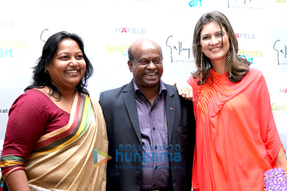 Celebs at GoodHomes' art exhibition