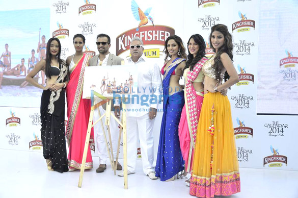 Launch of Kingfisher Calendar 2014 by Vijay Mallya
