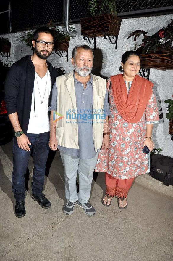 Shahid, Genelia, Tabu at the screening of the film 'Inam'
