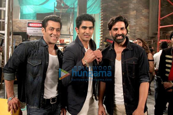 Salman Khan, Vijendra Singh, Akshay Kumar