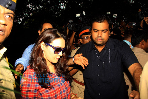 Preity Zinta snapped after giving her statement to Mumbai Police