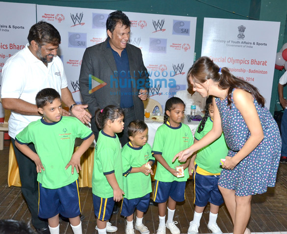 Hazel Keech supports National Badminton Championship 2014