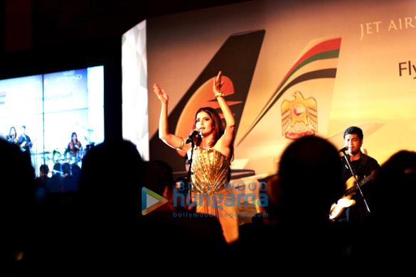 Shabana & Sona Mohapatra at Jet-Etihad partnership celebrations