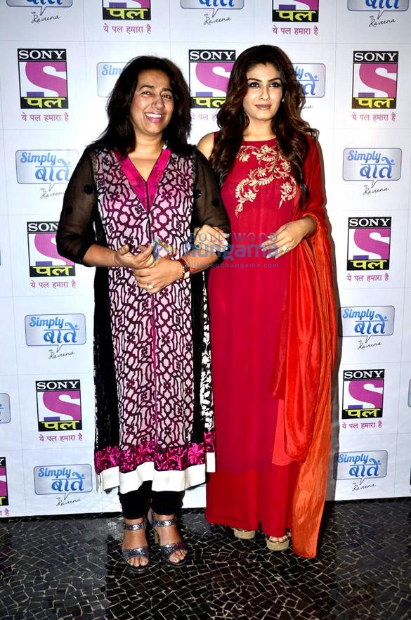 Raveena Tandon & Shriya Saran at 'Simply Baatein' show's bash