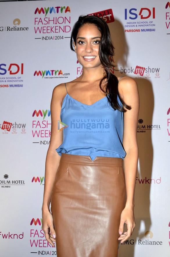 Lisa Haydon at Myntra Fashion Weekend India 2014 press meet