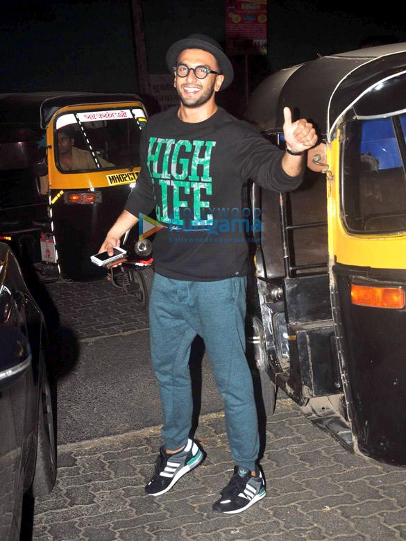 Ranveer Singh snapped in Juhu