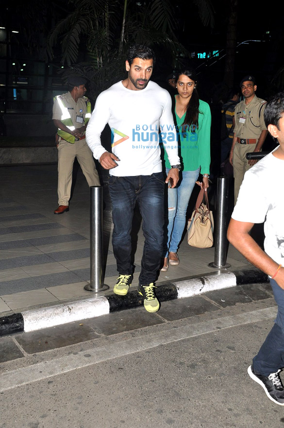 John Abraham spotted at the airport