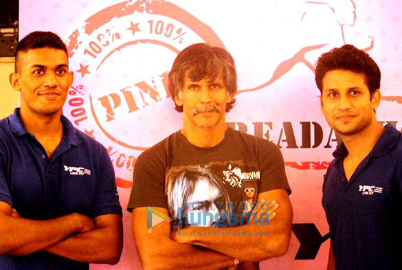 Milind Soman supports 'Treadathon 2014' to promote breast cancer awareness