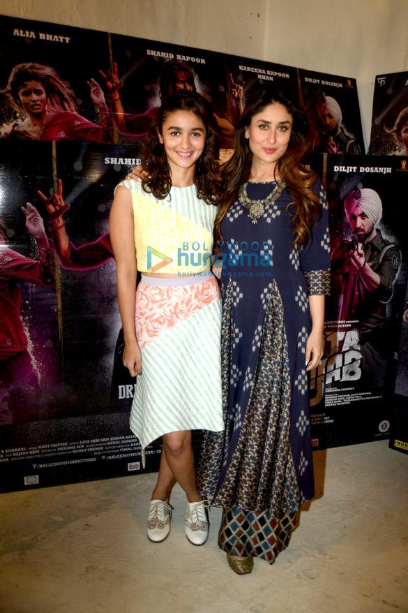 Kareena Kapoor Khan & Alia Bhatt at 'Udta Punjab' media meet