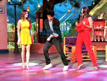 Shilpa Shetty gets a pleasant surprise from her husband on the sets of The Kapil Sharma Show