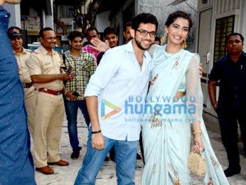 Sonam Kapoor & Aditya Thackeray inaugurate the Neerja Bhanot memorial