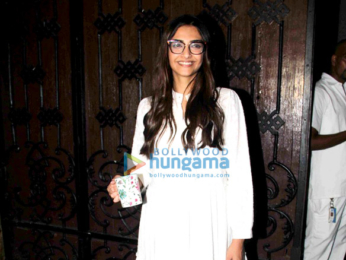Sonam Kapoor meets the media post ringing in her birthday last night