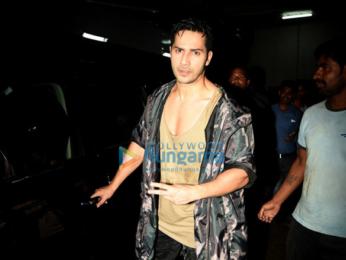 Varun Dhawan snapped at the promo song shoot for 'Dishoom'