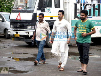 Varun Dhawan spotted at Mehboob Studio